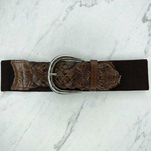 Nine West Brown Vintage Genuine Leather Belt